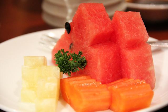 Fruit plate at Takumi Restaurant