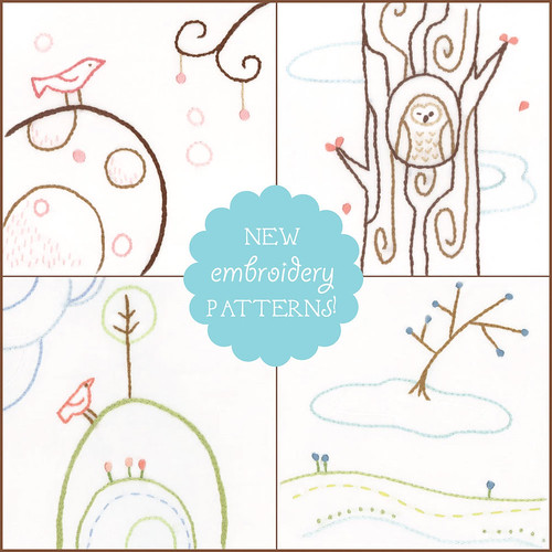 new embroidery patterns!