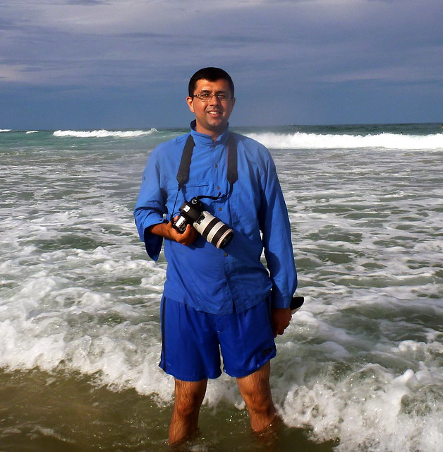 Neerav Bhatt taking photos of Lennox Head Surfers - 7 Mile Beach