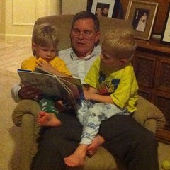 Bedtime stories with grandpa.