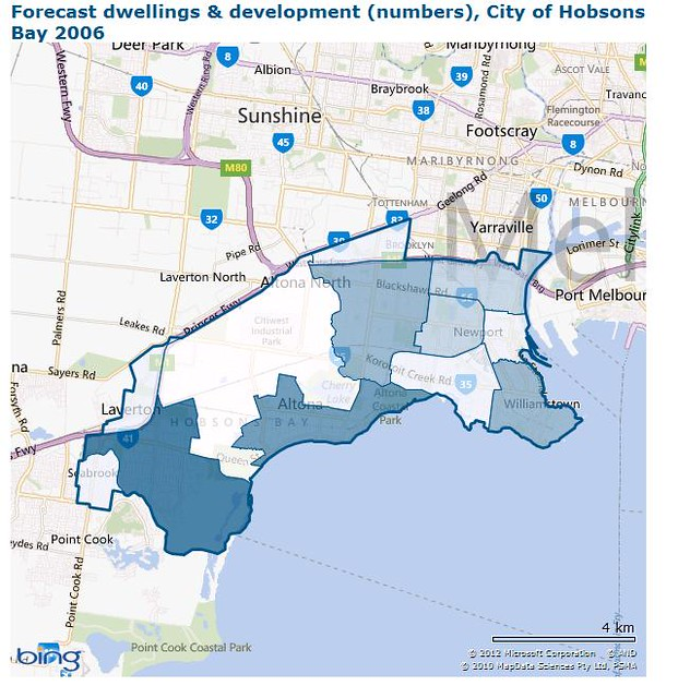 Forecast Dwellings & Development in Hobsons Bay 2031