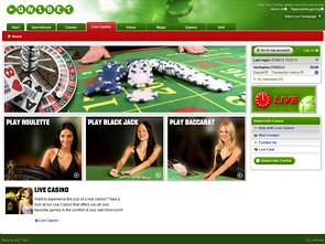 Unibet Live Casino Home