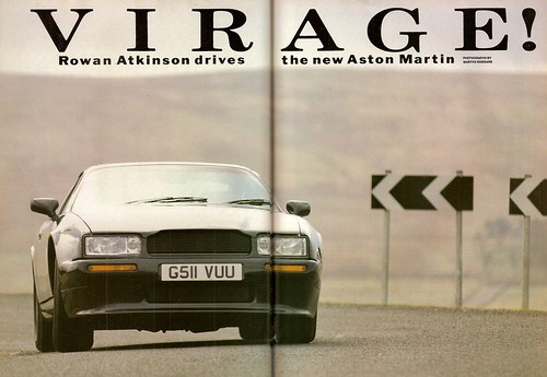 Rowan Atkinson Drives the Aston Martina Virage V8 Road Test 1990 (1)