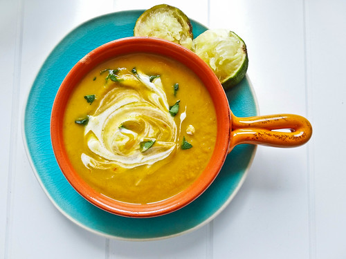 creamy avocado chipotle sweet potato soup