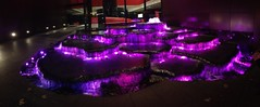 Water feature lit up