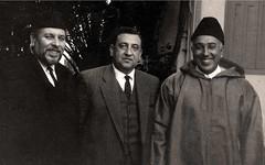 في دارنا في الرباط مع محمد الشرقاوي و عبد الكريم الخطيب - شباط 1968