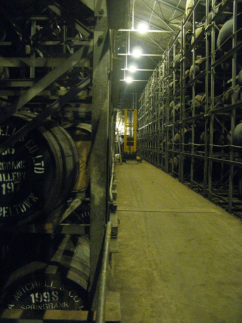 Springbank distillery - rack warehouse