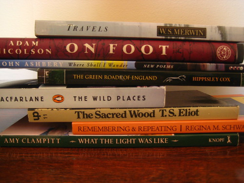 Travels on foot (book spine poems #1)