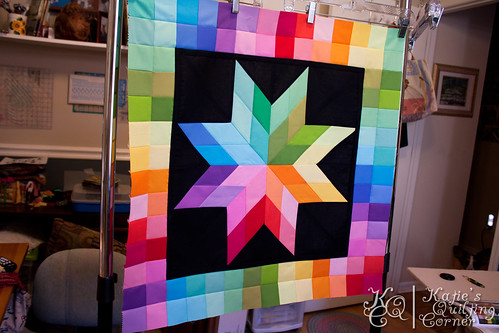 Rainbow Insomnia - finished the quilting!