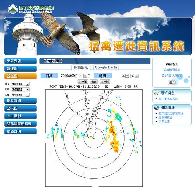猛禽遷徙資訊系統