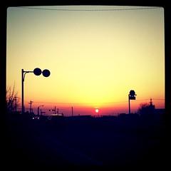 きれいな夕陽!