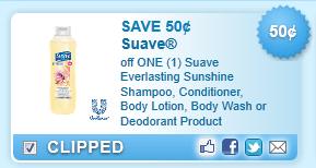 Suave Everlasting Sunshine Product Coupon