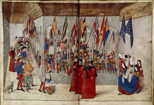 017-Le libre des tournois…1460- René d' Anjou--Français 2692, fol. 47v-48-Revision de los cascos