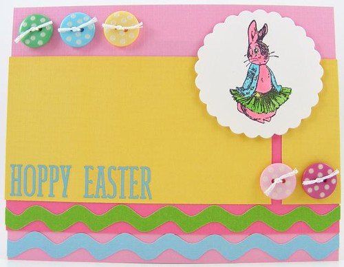 Buttons Hoppy Easter Card
