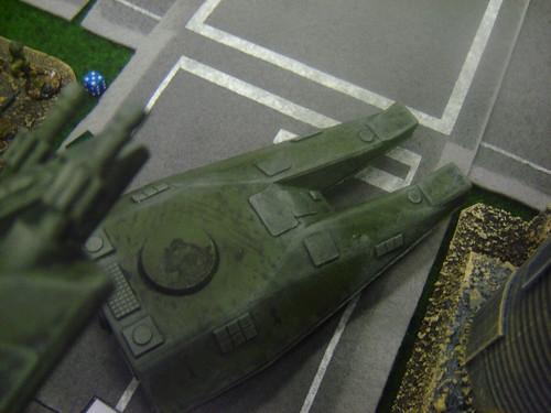 Tank turret explodes
