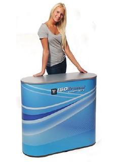 rectangular exhibition counter