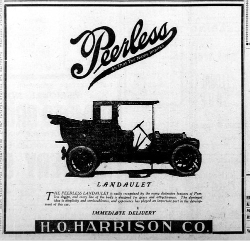 1910 The Peerless Landaulet   Peerless Motor Cars Cleveland Ohio by carlylehold