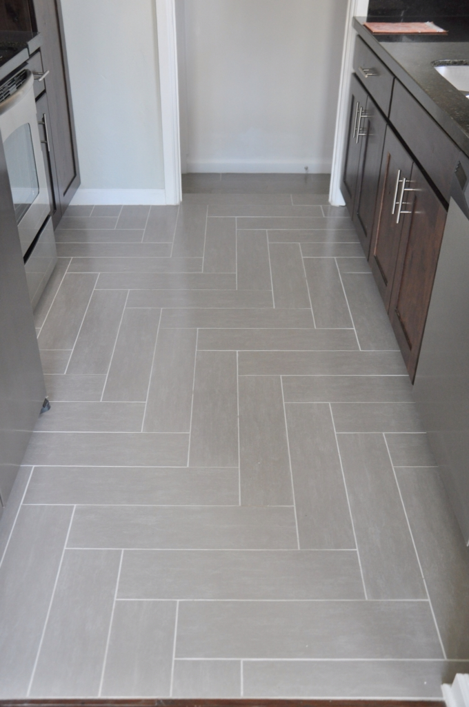 Lindsay drew 5th east home complete for Grey kitchen floor tiles ideas