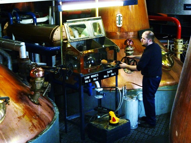 Distillation at Whisky Distillery