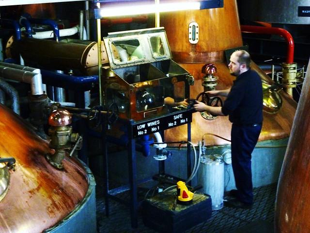 Distillation at Whisky Distillery