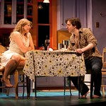 Cassie Beck (Rita) and Brian Sgambati (Peter) in the Huntington Theatre Company's production of PRELUDE TO A KISS playing at the BU Theatre. Part of the 2009-2010 season. Photo: T. Charles Erickson