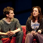Seth Fisher (Max Garret) and Wendy Hoopes (Becky Shaw) in the Huntington Theatre Company's production of BECKY SHAW playing at the BU Theatre. Part of the 2009-2010 Season Photo: T. Charles Erickson