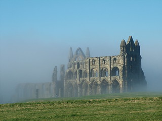 Whitby abbey in the mist explored