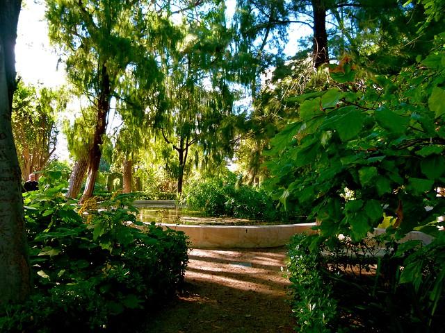 Jard n de monforte abril 2012 estanque de nen fares for Jardines de monforte