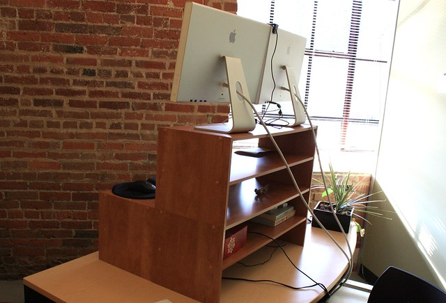 Standing Desk Right and Back