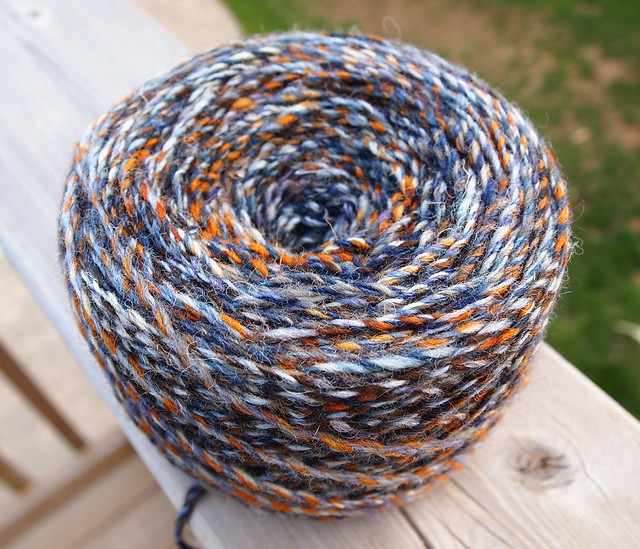 SCF-fiber club April 2012-Shipwreck & Longest Night cabled yarn-279yds