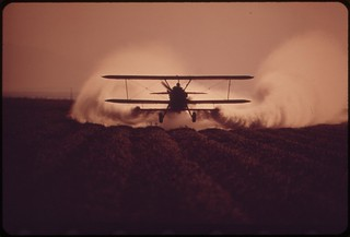 Crop duster in the Imperial Valley, May 1972