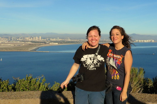Maria and Amanda at Point Loma