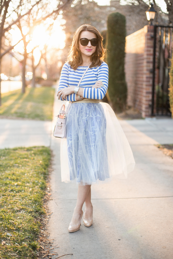anthropologie tulle skirt