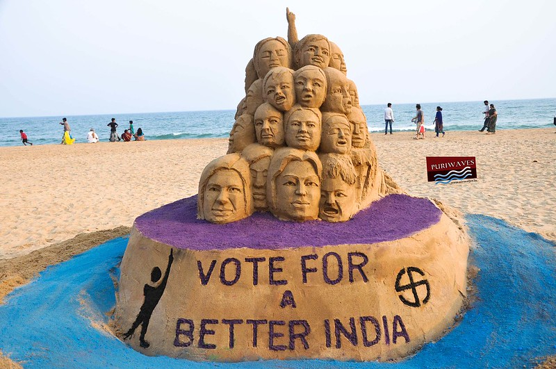 VOTE FOR A BETTER INDIA, Sand Artist Sri Manas Kumar Sahoo Aware People
