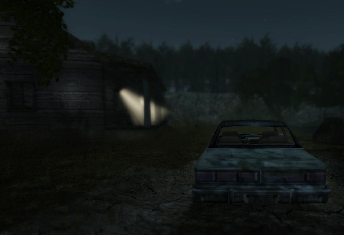 Car and house at Camp Crystal Lake