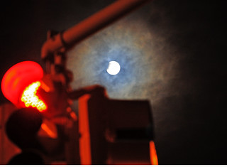 Traffic Light, Moon Light and Lunar Eclipse in NYC