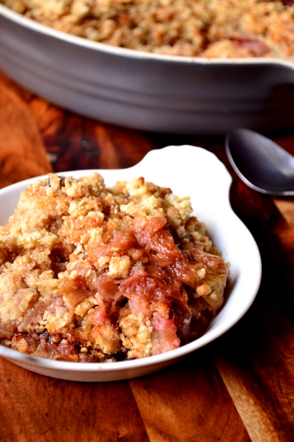 Recipe for Rhubarb Crumble