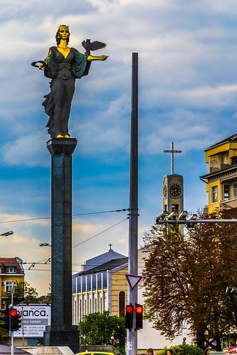 Spirit of Sofia statue, Sofia, Bulgaria