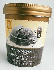 zwart sesam-ijs