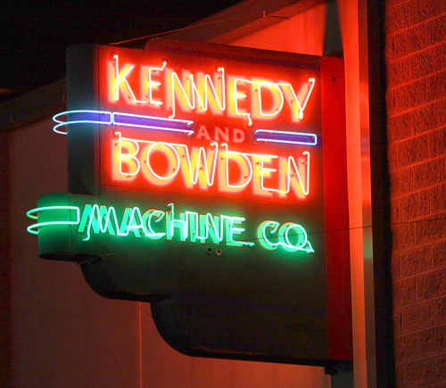 Kennedy & Bowden Machine Co. neon sign