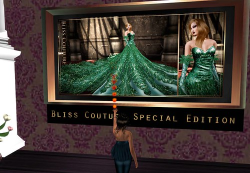 *Bliss Couture* Aliyeh Gown (St Patrick's Edition), 890 lindens by Cherokeeh Asteria