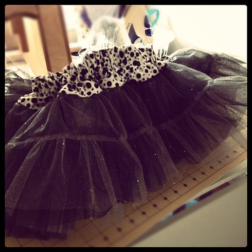 Crazy frilly pettiskirt for my kid.  Took a year to make it.  #febisforfinishing