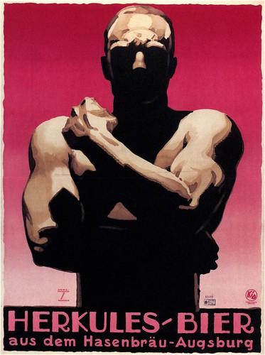 Ludwig Hohlwein. Hercules Bier. 1925