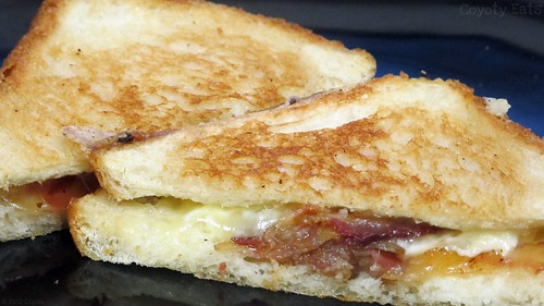 Garlic bacon Swiss grilled cheese by Coyoty