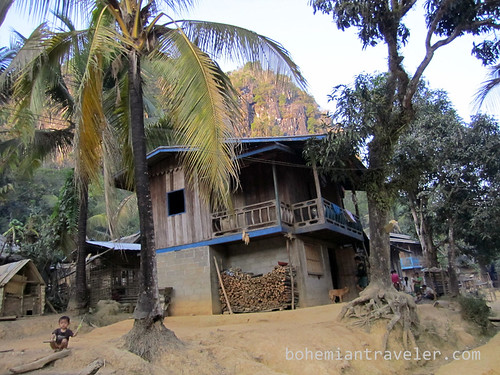village house near Muang Ngoi