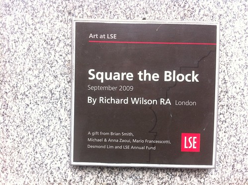 Square the Block by Richard Wilson RA
