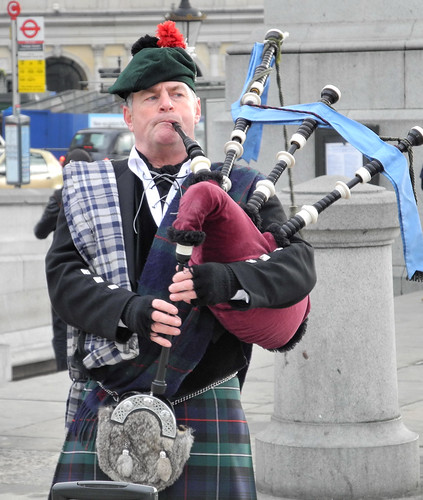 Bagpipes in Trafalgar Square