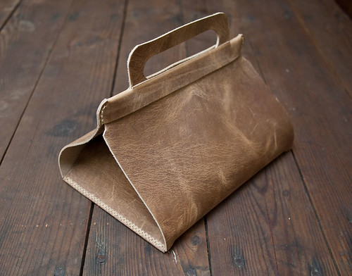 DIY leather lunch tote from The Journal of Wood & Faulk