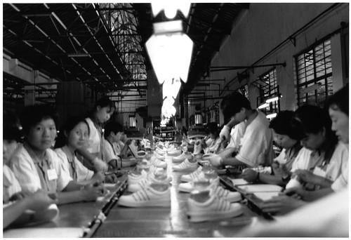 Young workers making Keds at Kunshan Sun Hwa