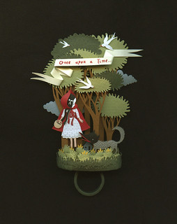 Little Red riding Hood. A paper ring.